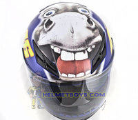 AGV K3 ROSSI 46 Donkey Full Face Helmet top view
