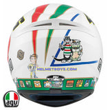 AGV K3 ROSSI 46 ICON Full Face Motorcycle Helmet back view