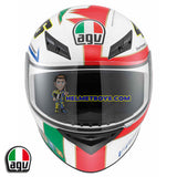 AGV K3 ROSSI 46 ICON Full Face Motorcycle Helmet front view