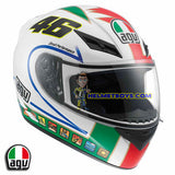 AGV K3 ROSSI 46 ICON Full Face Motorcycle Helmet slant view