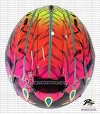 ARAI SZ RAM 4 Scott Russell Motorcycle Helmet Glossy black top view
