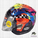 ARAI SZ RAM 4 Scott Russell Motorcycle Helmet Glossy black side view