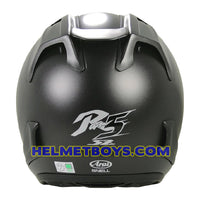 ARAI SZ RAM 5 motorcycle helmet matt black back view