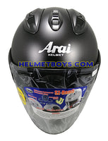 ARAI SZ RAM 5 motorcycle helmet matt black front view