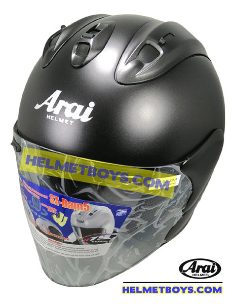 ARAI SZ RAM 5 motorcycle helmet matt black slant view