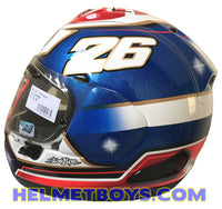 Arai RX7X Pedrosa Samurai full face motorcycle helmet side view