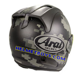 ARAI VZRAM MIMETIC motorcycle Helmet back right view
