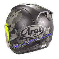 ARAI VZRAM MIMETIC motorcycle Helmet backflip view