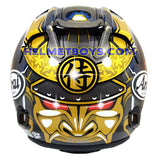ARAI VZRAM SAMURAI GOLD motorcycle helmet back view