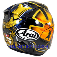 ARAI VZRAM SAMURAI GOLD motorcycle helmet right side view
