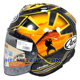 ARAI VZRAM SAMURAI GOLD motorcycle helmet side view