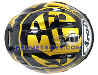 ARAI VZRAM SAMURAI GOLD motorcycle helmet top view