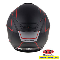 KABUTO ASAGI BEAM Motorcycle Sunvisor Helmet matt black back view