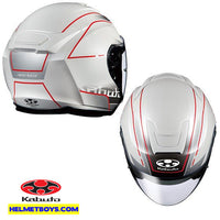 KABUTO ASAGI BEAM Motorcycle Sunvisor Helmet white top view
