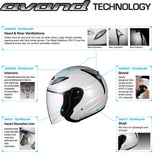 KABUTO AVAND2 open face motorcycle helmet airflow