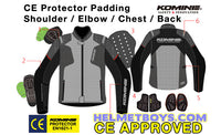 KOMINE JK116 Armour Protection Riding Jacket armour padding inserts