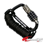 Komine LK-115 Carabiner Motorcycle Helmet Wire Lock black color