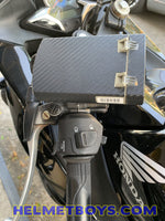 Motorcycle IU sticker carbon fibre on motorbike