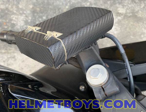 Motorcycle IU sticker carbon fibre showcase