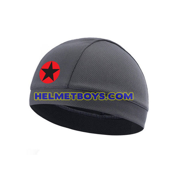 Motorcycle helmet headliner headcap red star