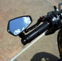 Motorcycle Handle Bar End Side Mirrors installation