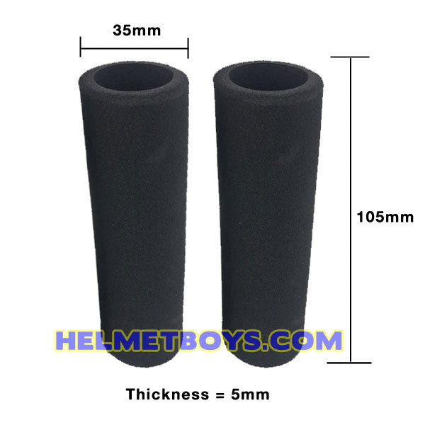Motorcycle Handlebar Anti Vibration Sponge Grip dimension
