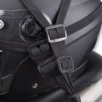 Motorcycle helmet hook strap cable seat