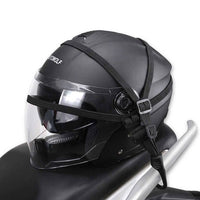Motorcycle helmet hook strap cable open face helmet