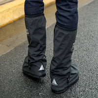 Motorcycle rider rain shoes safety night reflector