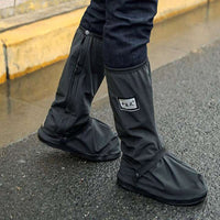 Motorcycle rider rain shoes anti skid sole