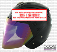 NOVA R606 black Helmet Full Tinted Visor rainbow side
