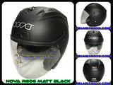 NOVA R606 motorcycle helmet matt black color