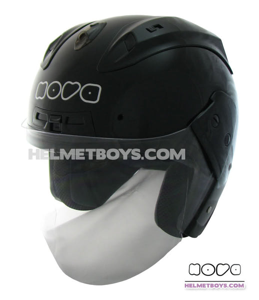 NOVA R606 motorcycle helmet glossy black side