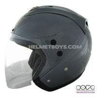 NOVA R606 motorcycle helmet grey side