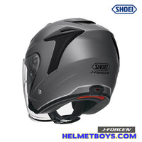 Shoei JFORCE 4 motorcycle Helmet matt grey back