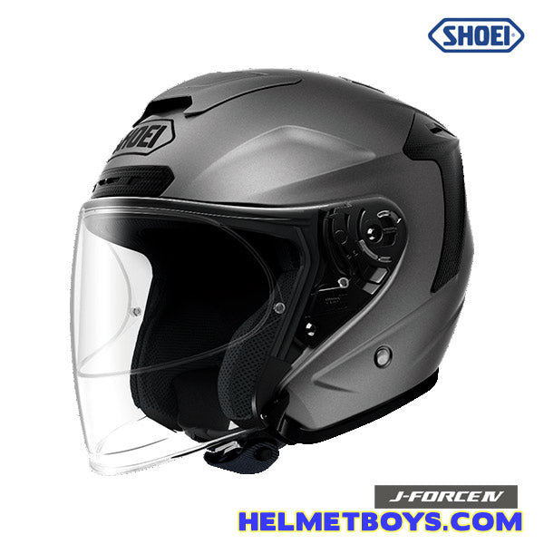 Shoei JFORCE 4 motorcycle Helmet matt grey side