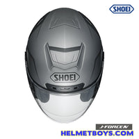 Shoei JFORCE 4 motorcycle Helmet matt grey top view