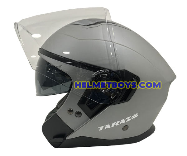 TARAZ Motorcycle Helmet Inner Sunvisor Matt Grey side