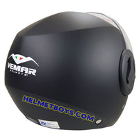 VEMAR BREEZE 3/4 jet style open face motorcycle helmet back view