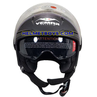 VEMAR BREEZE 3/4 jet style open face motorcycle helmet front view