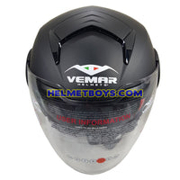 VEMAR BREEZE 3/4 jet style open face motorcycle helmet top view
