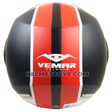 VEMAR BREEZE 3/4 jet style open face motorcycle helmet back full view matt red