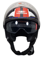 VEMAR BREEZE 3/4 jet style open face motorcycle helmet front view matt red