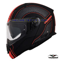 EMAR Sharki HIVE Flip Up Motorcycle Helmet matt orange side view