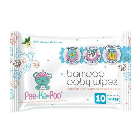Bamboo Wet Wipes With Honeysuckle Extract Travel Pack:Totsworld Pte Ltd
