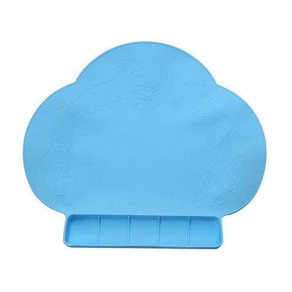 Haakaa Silicone Suction Cloud Mat:Blue:Totsworld Pte Ltd