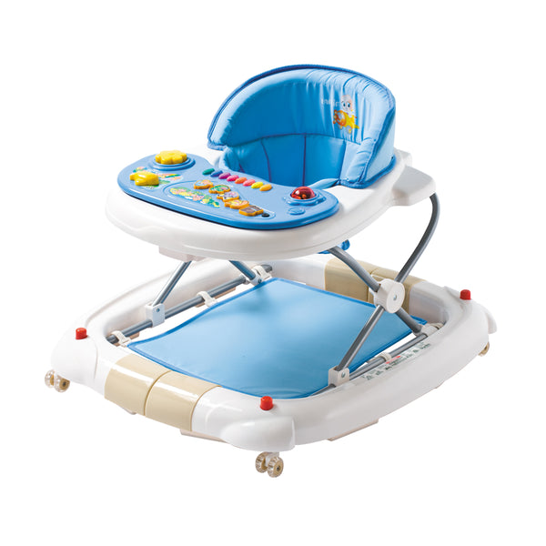 Farlin 2-in-1 Baby Walker/Rocker w/ Brake Pads - Blue:Totsworld Pte Ltd