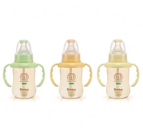 Simba PPSU Standard Neck Feeding Bottle with Auto Straw & Handle 150ml:Totsworld Pte Ltd