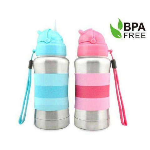 Haakaa 270ml Standard Neck Stainless Steel Thermal Straw Bottle:Totsworld Pte Ltd