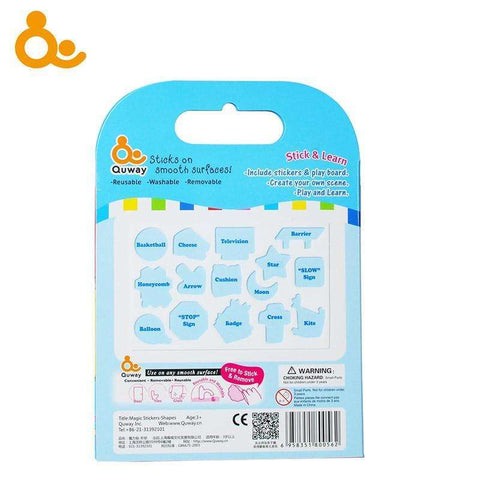 Quway Stick and Learn Fun Activity Set - Washable Stickers